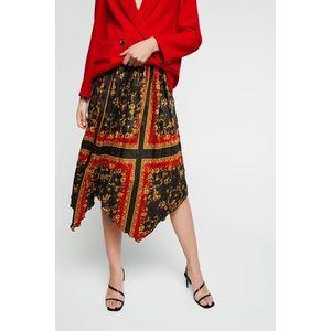 ZARA Pleated Printed skirt